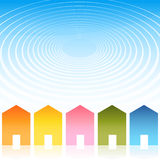 Housing Ripple Effect Background Stock Image