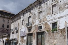 Housing ruins in Lisbon Stock Photo