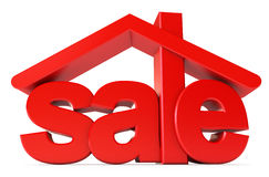 Housing for sale. Icon isolated on white background. 3d render vector illustration