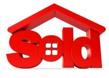 Housing for sale. Icon on white background. 3d render vector illustration