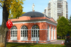 Housing service north (greenhouse), XVIII century. Architectural monument. Homesteads Vorontsovo. South wing Stock Photo