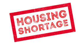 Housing Shortage rubber stamp. Housing Shortage, rubber stamp on white. Print, impress overprint Stock Images