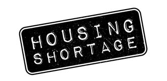 Housing Shortage rubber stamp. Housing Shortage, rubber stamp on white. Print, impress overprint Royalty Free Stock Photo