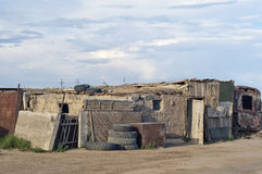 Housing in the steppe in the Central Asia (Kazakhstan) Stock Image