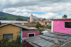 Housing in the suburbs of Quito Stock Photo
