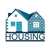 Housing symbol for business. Housing and home symbol for business stock illustration