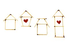 Housing symbols royalty free stock photos