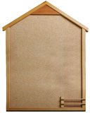 Housing type cork bulletin board. A straight piece of housing-type cork bulletin board Royalty Free Stock Image