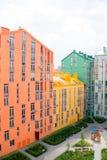 housing verklig bostadssikt för abstrakt flyg- gods för bakgrundsbyggnader färgrikt Royaltyfria Bilder