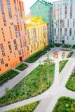 housing verklig bostadssikt för abstrakt flyg- gods för bakgrundsbyggnader färgrikt Royaltyfri Bild
