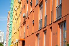 housing verklig bostadssikt för abstrakt flyg- gods för bakgrundsbyggnader färgrikt Arkivfoto