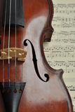 Housing violin. Royalty Free Stock Images