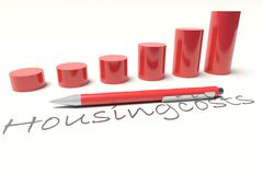 Housingcosts Diagram Royalty Free Stock Images