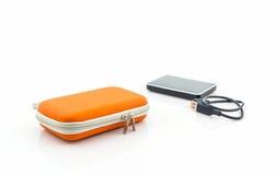Housse de transport externe d'unité de disque dur Photo stock