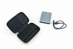Housse de transport externe d'unité de disque dur Sacs pour l'unité de disque dur externe Photo libre de droits