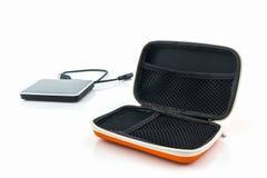 Housse de transport externe d'unité de disque dur Sacs pour l'unité de disque dur externe Photographie stock