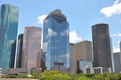 Houston. Texas skyline with a bright blue sky Stock Photos