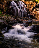 Houston Brook Falls Bingham, Maine. Summer of2016 after a drought Royalty Free Stock Photography