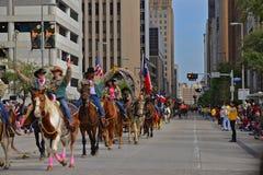 Houston bydlę i rodeo parada Pokazujemy zdjęcia royalty free