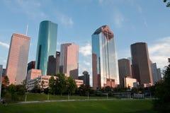 Houston céntrica Fotografía de archivo libre de regalías