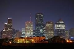 Houston céntrica Imágenes de archivo libres de regalías