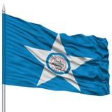 Houston City Flag sur le mât de drapeau, Etats-Unis Image libre de droits