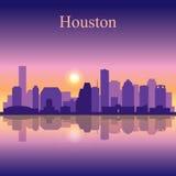 Houston city skyline silhouette background Royalty Free Stock Photo