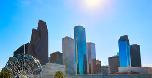 Houston city skyline from west Texas US royalty free stock photography