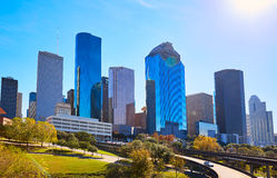 Houston city skyline from west Texas US stock photos