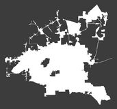 Houston City white map on black background illustration. Houston City white map on black background royalty free illustration