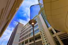 Houston cityscape Bell and Smith St in Texas US Royalty Free Stock Photography