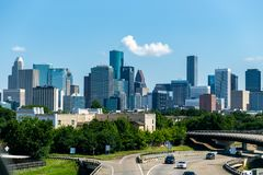 Houston skyline from the south side royalty free stock image