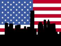Houston com bandeira ilustração do vetor