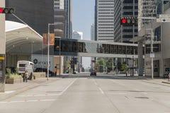 Houston de alguma rua a baixa fotografia de stock