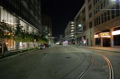 Houston, in die Stadt stockfoto