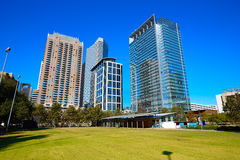 Houston Discovery green park in downtown Royalty Free Stock Photography