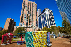 Houston Discovery green park in downtown Stock Photography