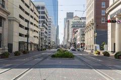 Houston do centro da rua principal imagens de stock