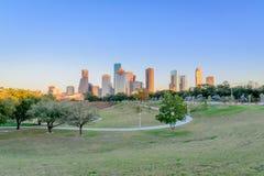Houston do centro no por do sol Imagem de Stock