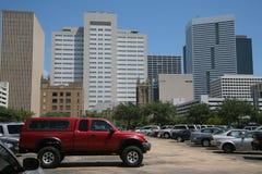 Houston do lote de estacionamento Imagens de Stock