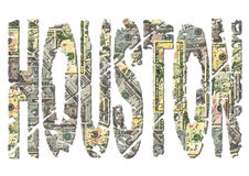 Houston dollars grunge text Stock Photography