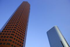 Houston downtown city urban buildings Stock Images