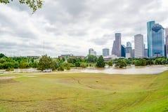 Houston Downtown Flood images stock
