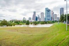 Houston Downtown Flood photo stock
