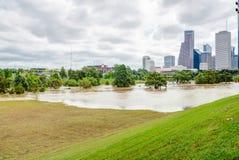 Houston Downtown Flood photos stock