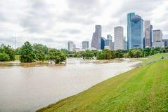 Houston Downtown Flood images libres de droits
