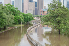 Houston Downtown Flood Foto de archivo