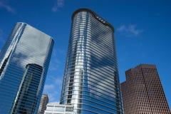 Houston downtown highrises Stock Photo