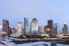 Houston downtown at night, Texas Stock Photography