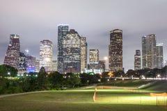 Houston downtown at night, Texas Royalty Free Stock Photo
